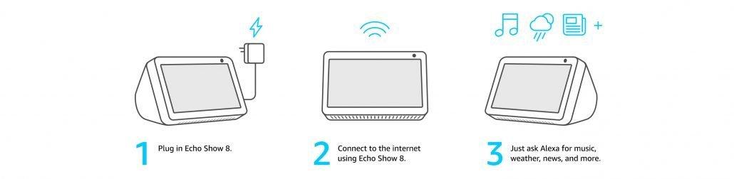 Amazon Echo Show 8 setup instructions
