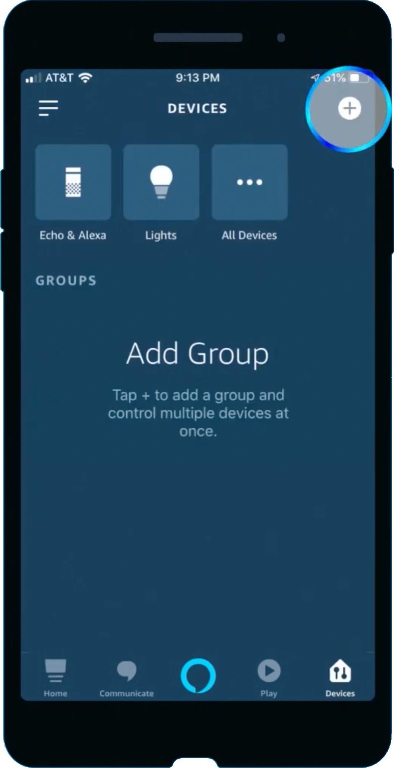Amazon Alexa app add group