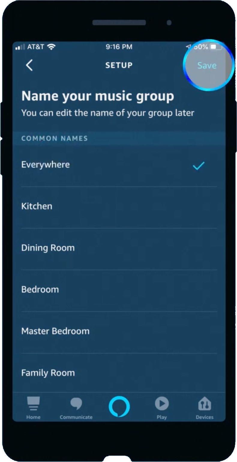 Amazon Alexa app name multi-room music group