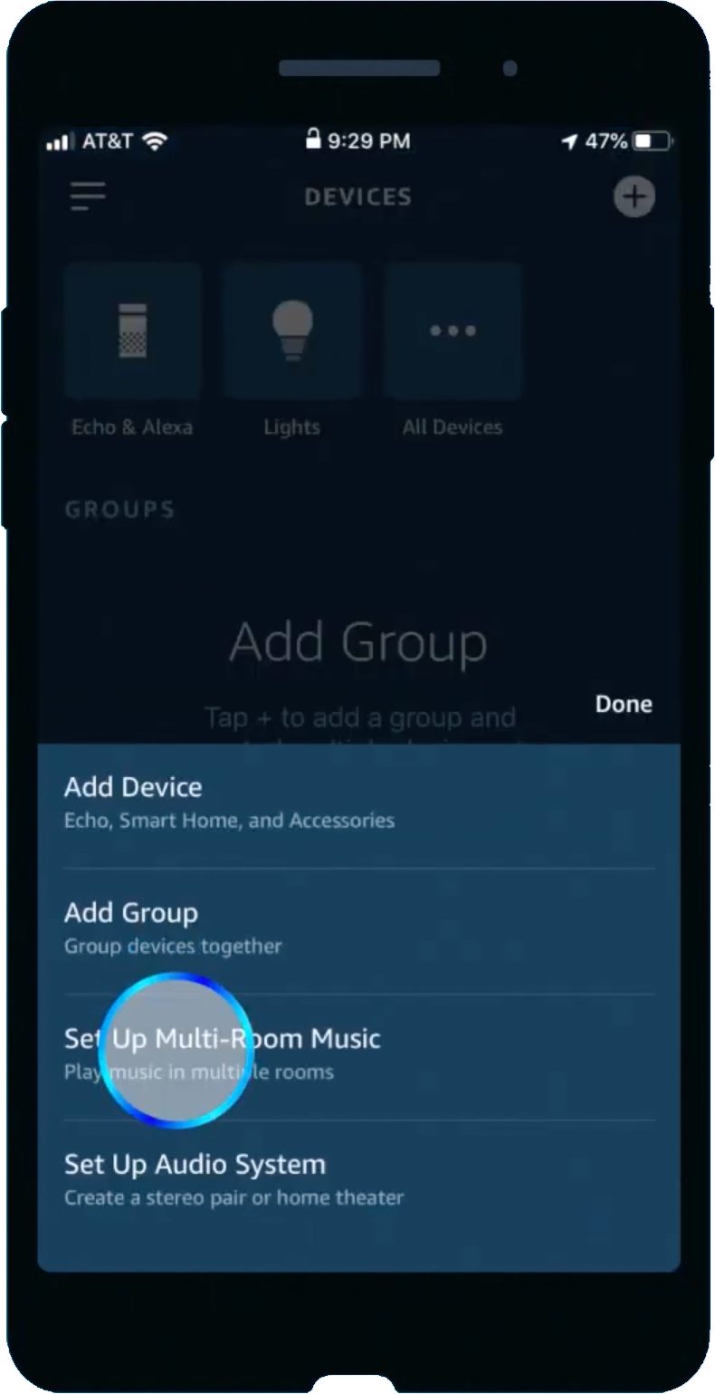 Amazon Alexa app set up multi-room music