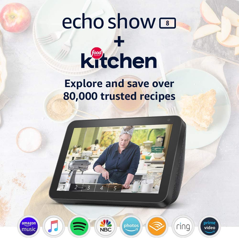 Amazon Echo Show 8 with Food Network Kitchen