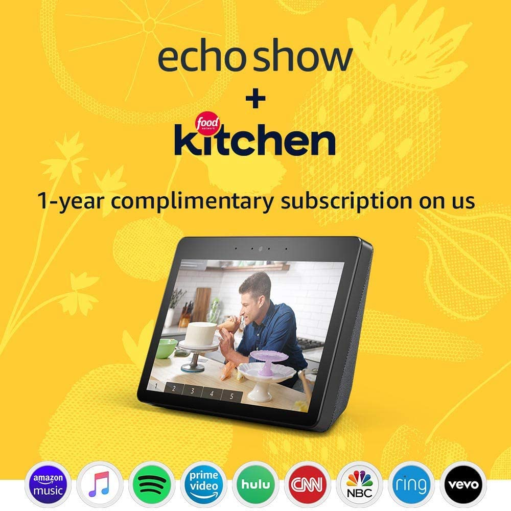 Amazon Echo Show with Food Network Kitchen