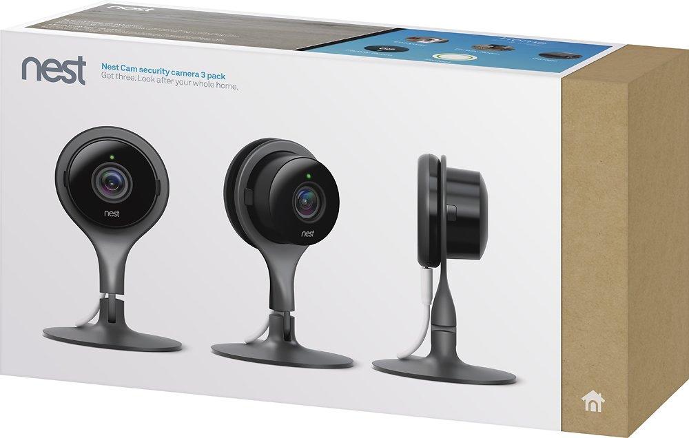 Google Nest Indoor Security Camera 3-pack box