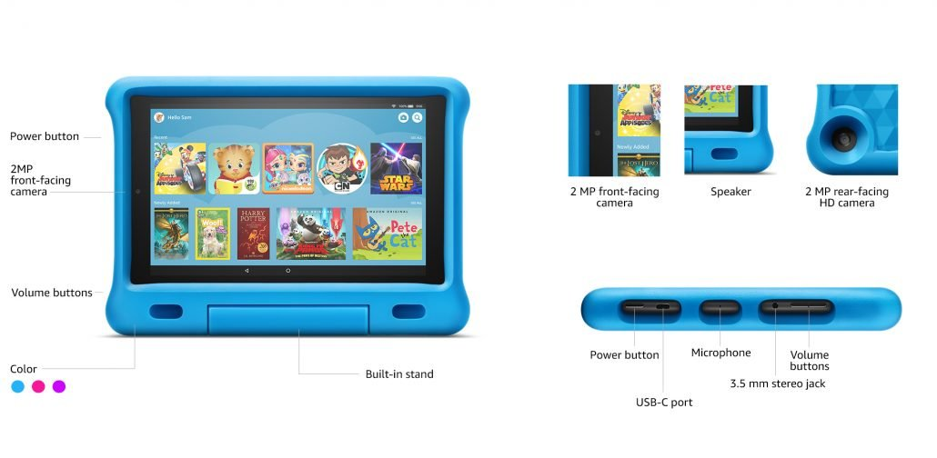 Amazon Fire HD 10 Kids Edition Tablet design