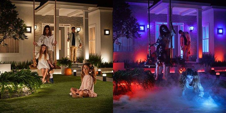 Philips Hue outdoor Halloween lights