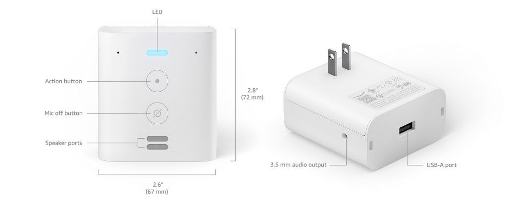 Amazon Echo Flex design