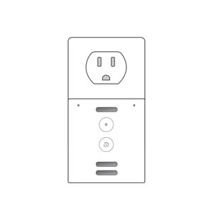Amazon Echo Flex without clock design