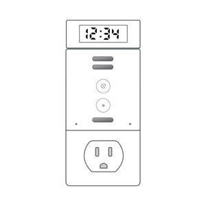 Amazon Echo Flex with Smart Clock upside down