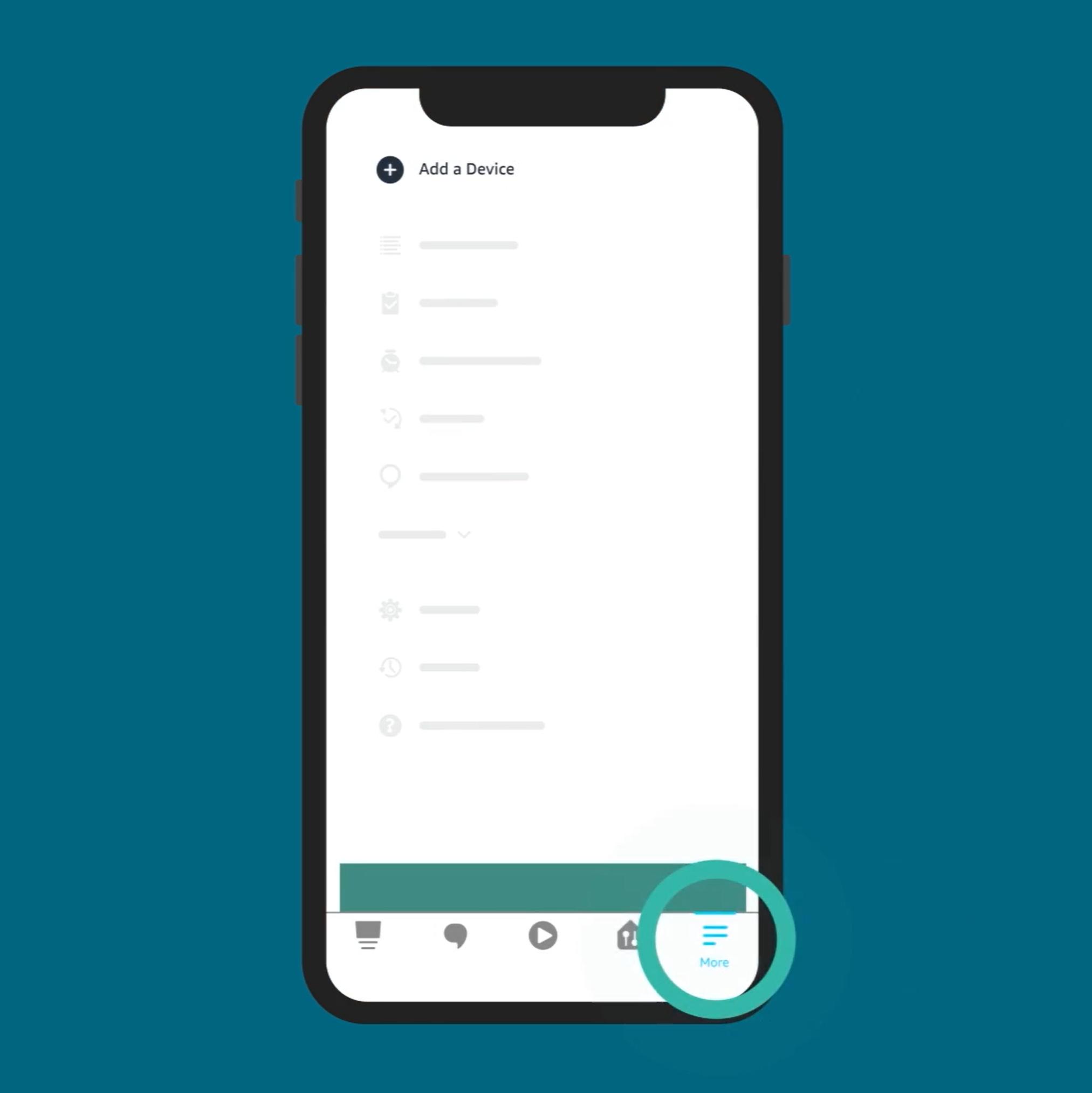 Amazon Alexa app add more button