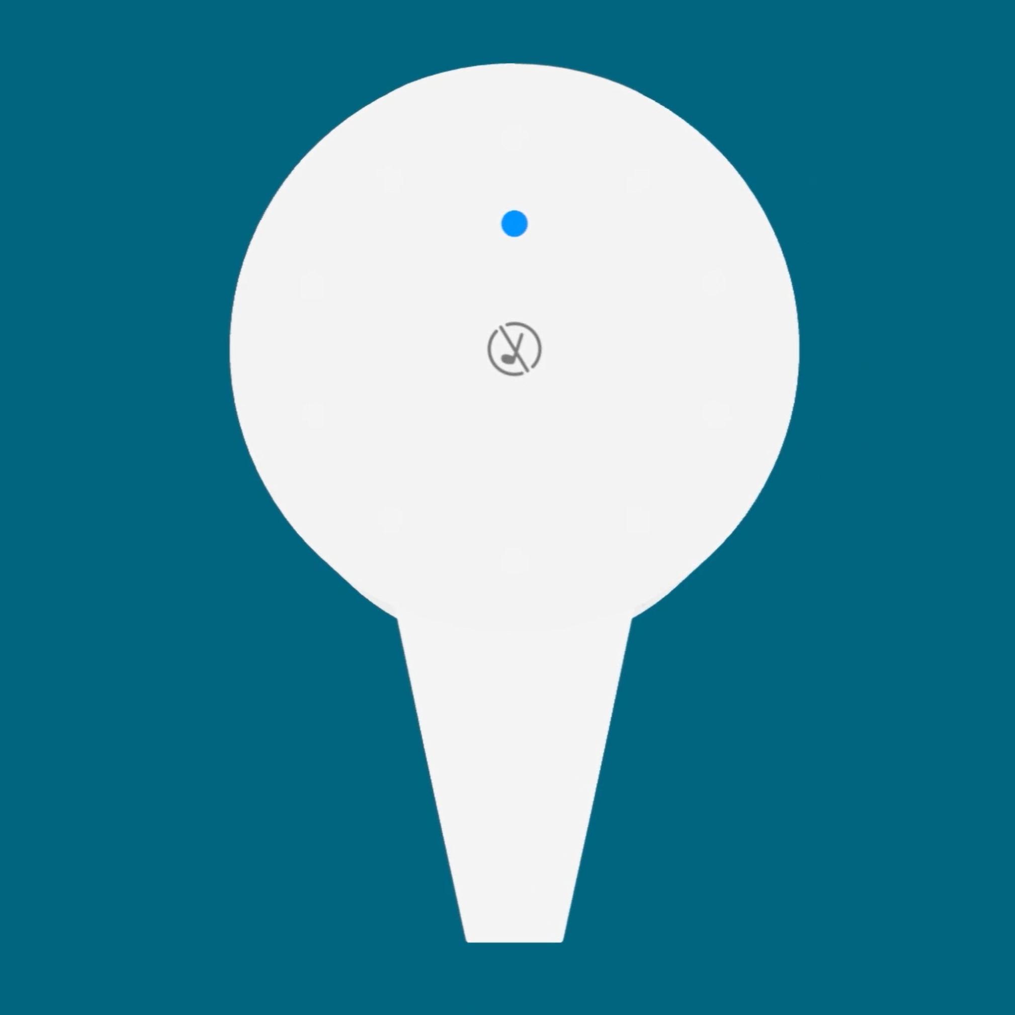 Amazon Alexa Smart Soap Dispenser blue indicator